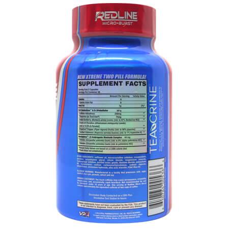 VPX Redline Fat Burner - Supplement Facts