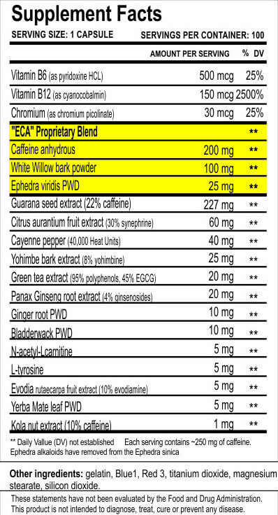 Cloma Pharma Asia Black 25 Ephedra