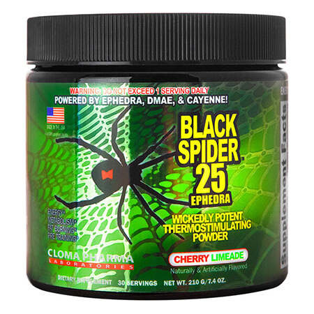 Black Spider 25 Ephedra Powder Cloma, Cloma Pharma Black Spider 25 Ephedra Powder