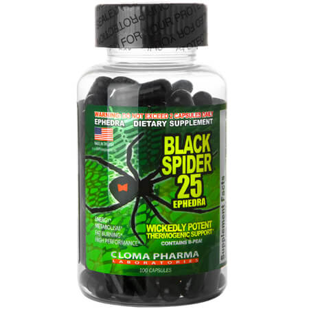 Cloma Pharma Black Spider ECA