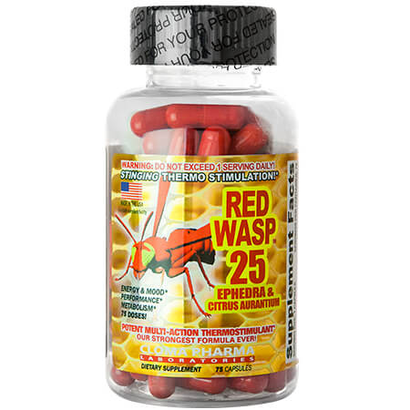 Cloma Pharma Red Wasp 25 Ephedra, cloma pharma red wasp, red wasp 25, red wasp cloma pharma, red wasp 25 ephedra, red wasp fat burner, cloma pharma red wasp 25,