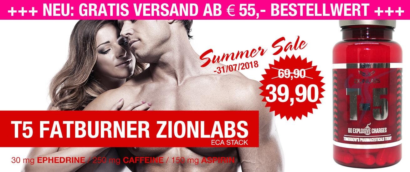 T 5 Fatburner kaufen, Ephedrine, Aspirin, Koffein, ECA Stack & ECA Fatburner