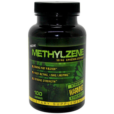 Methylzene 50 mg Ephedra ECA Stack Hard Rock