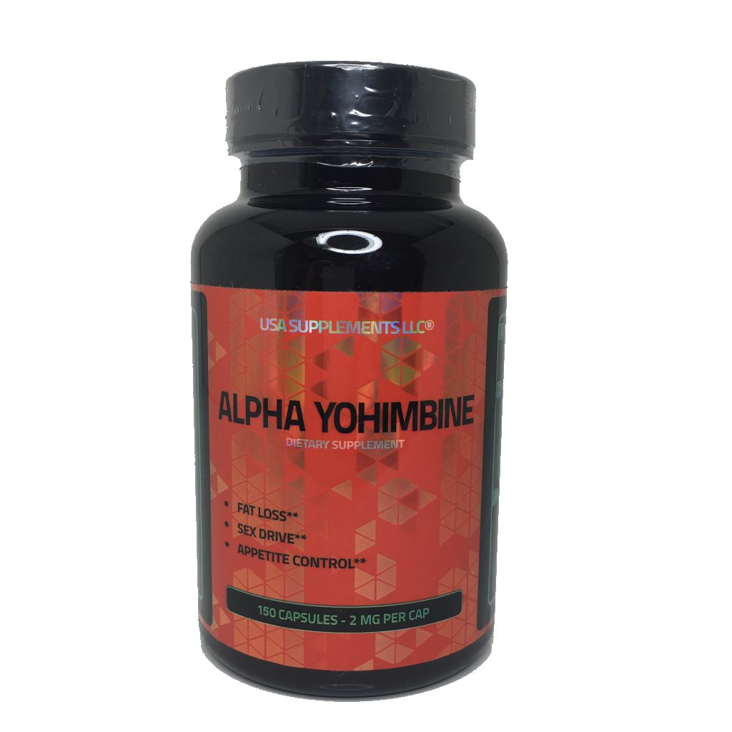 Alpha Yohimbine, 2mg, 150 Capsules – USA Supplements LLC.