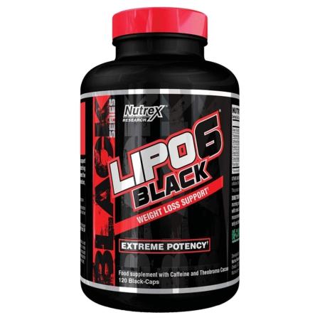 NUTREX Lipo 6 Black - 120 Kapseln US-Version Inhaltsstoffe Facts