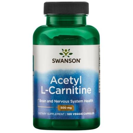Swanson Acetyl L-Carnitine 500mg 100 Kapseln