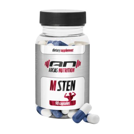 M-STEN von ARCAS Nutrition für schlanke, fettfreie Muskeln, ein gesteigerter Zuwachs an Muskelmasse und massive Stärke