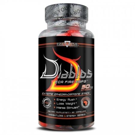 Diablos ECA Fire Caps von Innovative Labs mit 50mg Ephedrin ist der stärkste Super Fatburner und Appetitzügler.