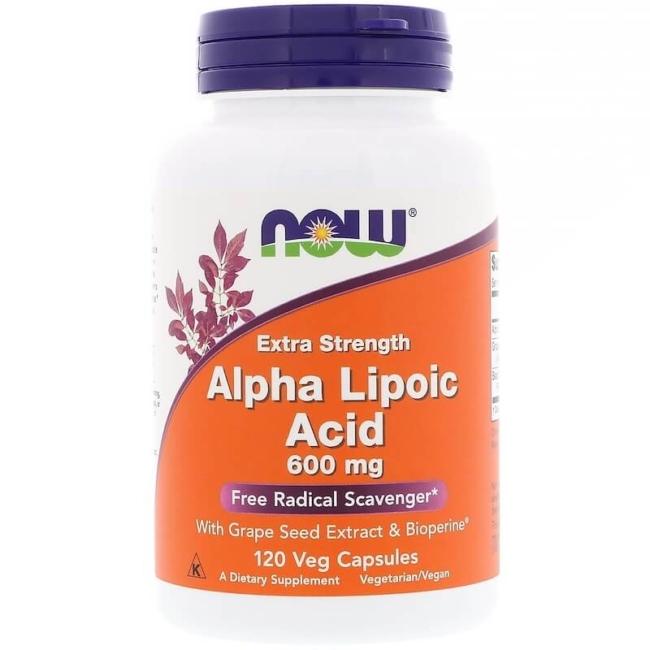 NOW Foods Alpha Liponsäure 600mg 120 Veg Kapseln vielseitig und stark
