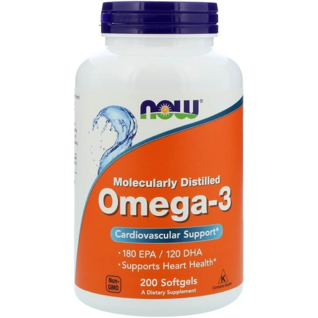 NOW Foods Omega-3 1000mg 200 Softgels