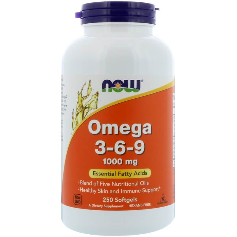 Omega 3 6 9 1000mg Now Foods 250 Softgels Buy Online At Fatburners At