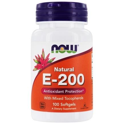 NOW Foods Vitamin E-200 Natural 100 Softgels