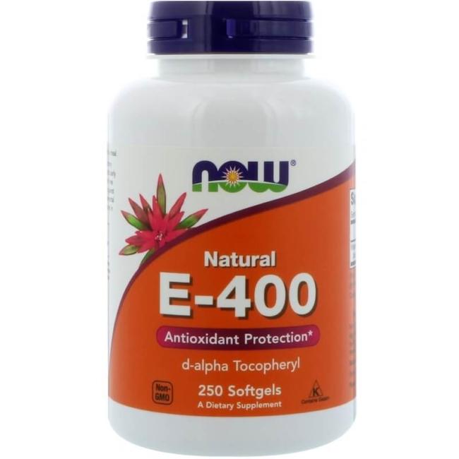 NOW Foods Vitamin E-400 Natural 250 Softgels