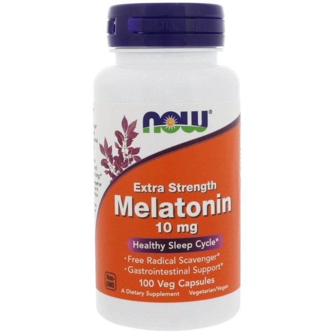 Now Foods Melatonin 10 mg 100 Veg. Kapseln