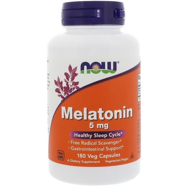 Now Foods Melatonin 5 mg 180 Veg Kapseln