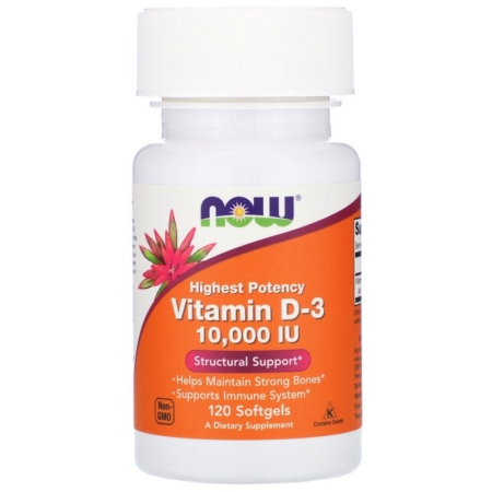 Now Foods Vitamin D-3 10000 IU 120 Softgels