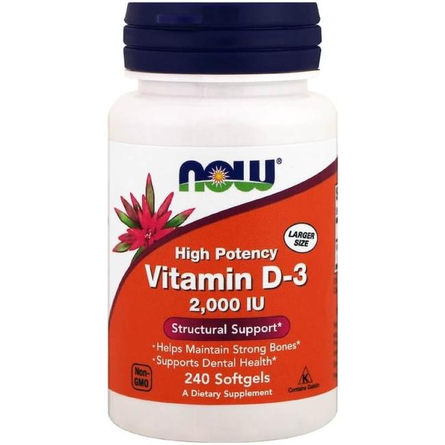 Now Foods Vitamin D3 2000 IU 240 Softgels