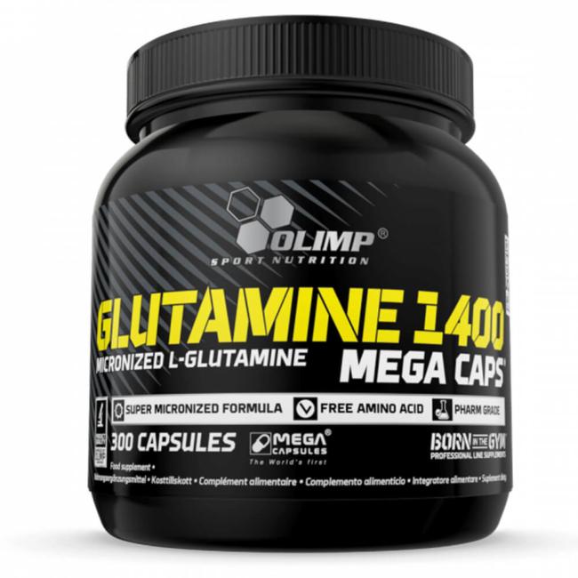 Olimp Glutamine 1400 Mega Caps 300 Kapseln L-Glutamin