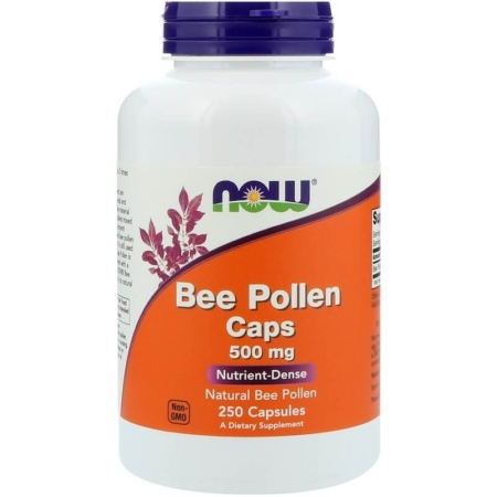 NOW Foods Bee Pollen 500 mg 250 Kapseln
