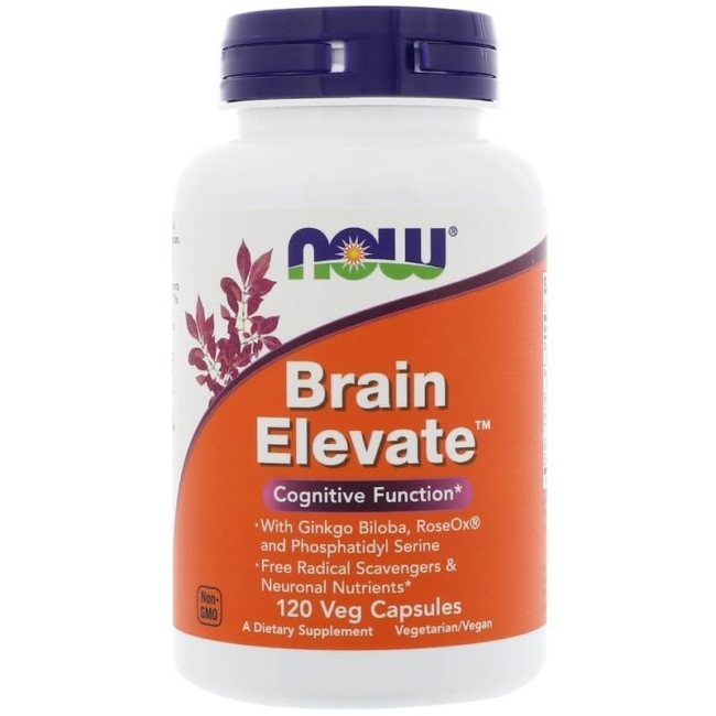 NOW Foods Brain Elevate 120 Veg Kapseln
