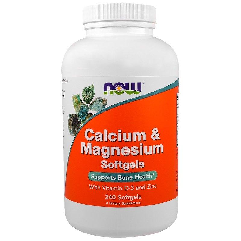 NOW Foods Calcium & Magnesium + D-3 240 Softgels