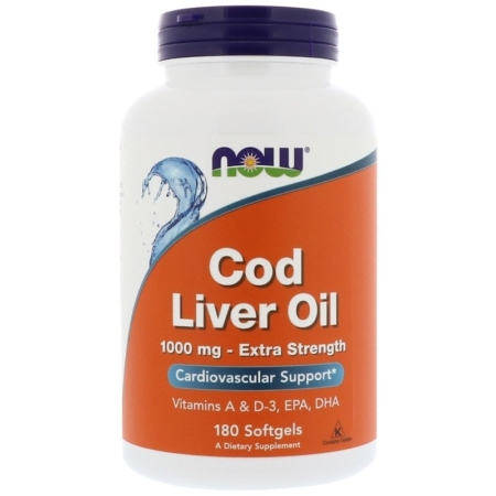 NOW Foods Cod Liver Oil 1000mg 180 Softgels