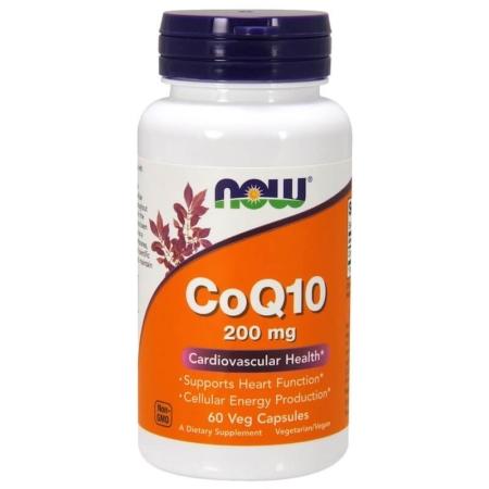 NOW Foods CoQ10 200 mg 60 Veg Kapseln