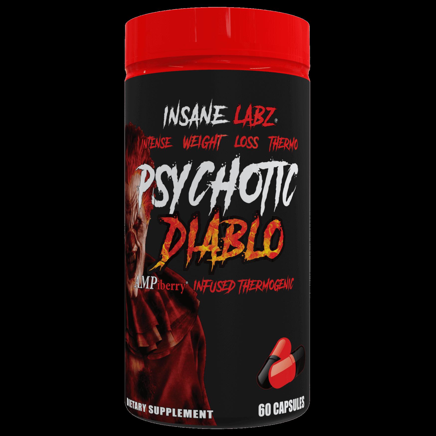 Psychotic Diablo Fat Burner, Insane Labz, 60 capsule