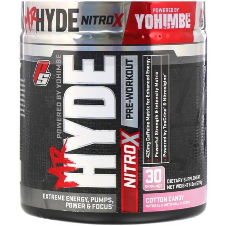 Mr Hyde Nitrox Pre Workout-Booster Pro Supps