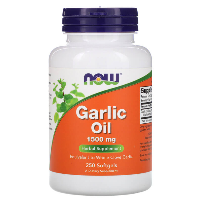 NOW Foods Garlic Oil 1500mg Knoblauchöl