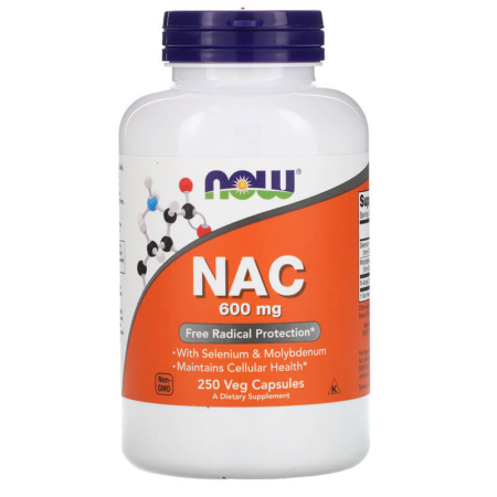 NOW Foods NAC 600 mg 250 Veg Caps