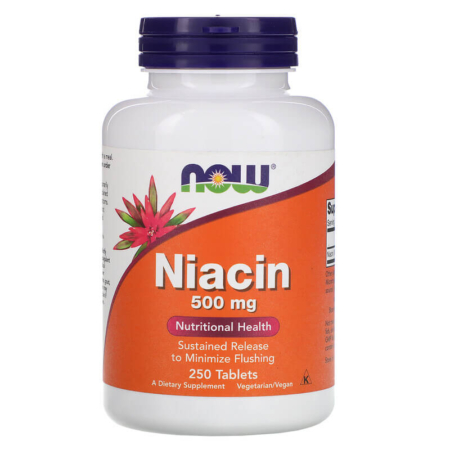 NOW Foods Niacin 500 mg 250 Tabletten