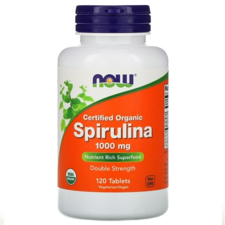 NOW Foods Spirulina 1000 mg 120 Tabletten