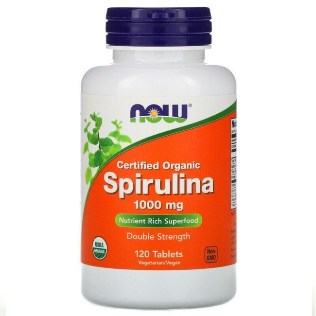 NOW Foods Spirulina 1000 mg