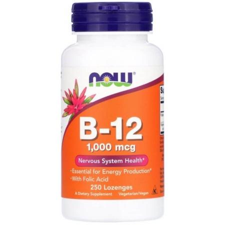 NOW Foods Vitamin B-12 1000 mcg 250 Lutschpastillen