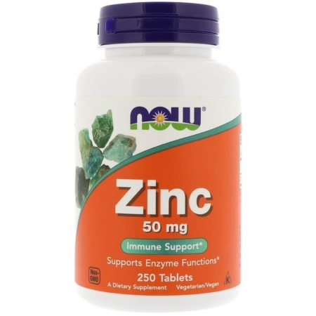 NOW Foods Zinc 50 mg (Gluconate) 250 Tabs