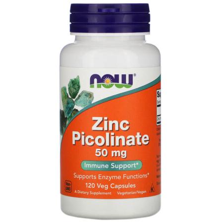 NOW Foods Zinc Picolinate 50 mg 120 Veg Caps