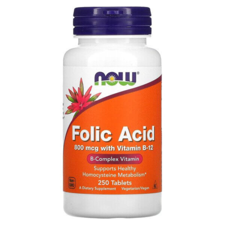 Now Foods Folic Acid 800 mcg