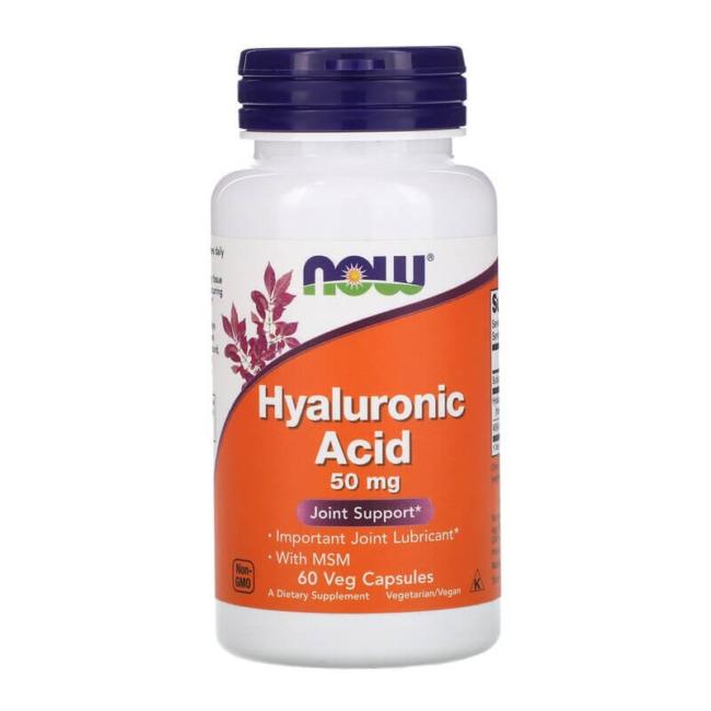 Now Foods Hyaluronic Acid 50 mg + MSM