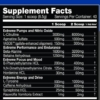 Performax Labs HyperMax Extreme Inhaltsstoffe Facts