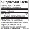 Swanson Milk Thistle 500 mg Inhaltsstoffe Facts