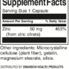 Swanson Zinc Citrate 50 mg Inhaltsstoffe Facts