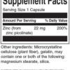 Swanson Zinc Picolinate 22 mg Inhaltsstoffe Facts