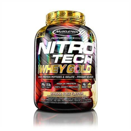 muscletech nitro tech 100 whey gold 2270g banana bliss